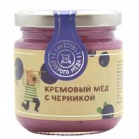 Мед Добрый мёд кремовый с черникой 220г