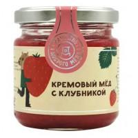 Мед Добрый мёд кремовый с клубникой 220г