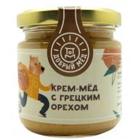 Мед Добрый мёд кремовый с грецким орехом 220г