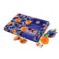Конфеты Микаэлло чернослив и абрикос в шоколадной глазури с орехами 220г коробка