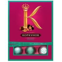 Конфеты А. Коркунов Ореховая коллекция из темного и молочного шоколада 110г