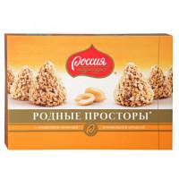 Конфеты Россия родные просторы с вафельной крошкой 200г
