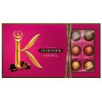 Конфеты А. Коркунов ассорти темный шоколад 192г