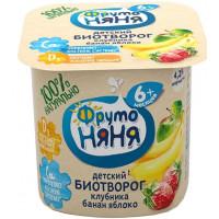 Биотворог Фруто-няня с клубникой бананом и яблоком 4.2% 100г