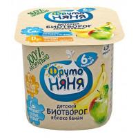 Биотворог Фруто-няня с яблоком и бананом 4.2% 100г