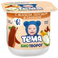 Творог Тема яблоко персик банан 4,2% 100г