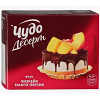 Сырок Чудо Десерт глазированный манго-персик 23,4% 40г