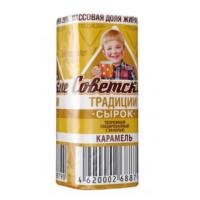 Сырок Советские традиции глазированный с ванилью со вкусом карамели 26% 45г