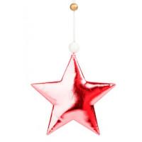 Украшение 81436 Феникс Блестящая красная звезда подвесное 10,5*1,5*10,5см