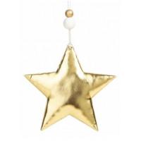Украшение 81434 Феникс Блестящая золотистая звезда подвесное 10,5*1,5*10,5см
