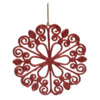 Украшение 75102 Феникс презент Снежинка красная