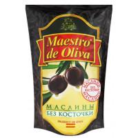 Маслины Маэстро де Олива без косточки 170г пл/у