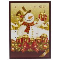 Шоколад Рождественский календарь Снеговик 50г