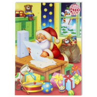 Шоколад Рождественский календарь Санта Клаус 50г