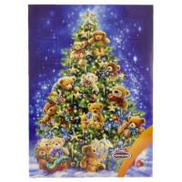 Шоколад Рождественский календарь Новогодняя елка с мишками 50г